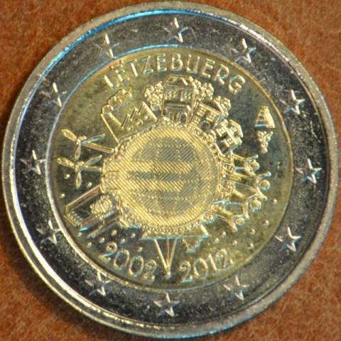 2 Euro Luxembursko 2012 - 10. výročia vzniku Eura (UNC)