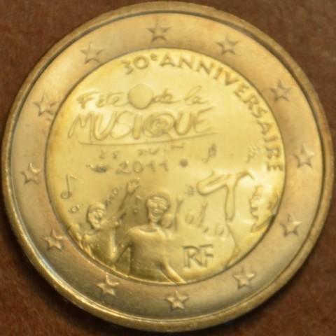 2 Euro Francúzsko 2011 - 30. výročie dňa hudby (UNC)