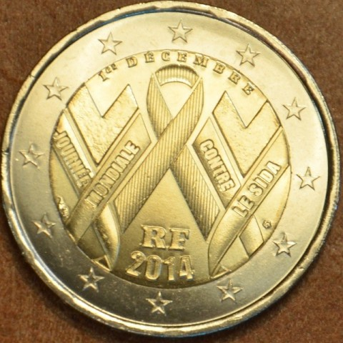 2 Euro Francúzsko 2014 - Svetový deň boja proti AIDS (UNC)