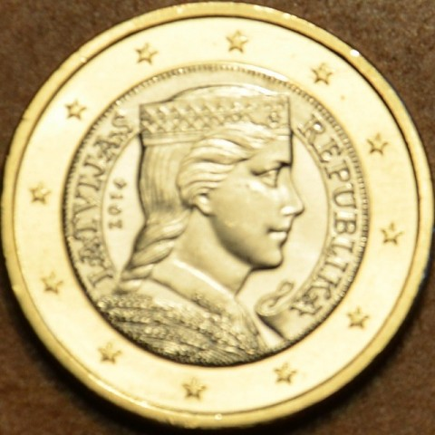 1 Euro Lotyšsko 2014 (UNC)