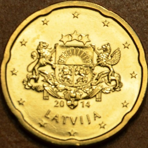 20 cent Lotyšsko 2014 (UNC)
