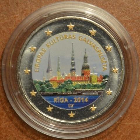 2 Euro Lotyšsko 2014 - Riga Európske mesto kultúry (farebná UNC)