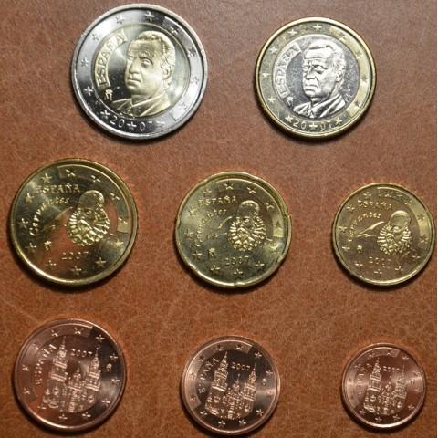 Sada 8 mincí Španielsko 2007 (UNC)