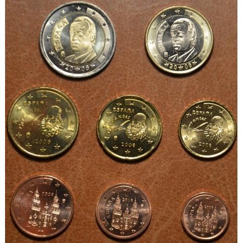 Sada 8 mincí Španielsko 2008 (UNC)