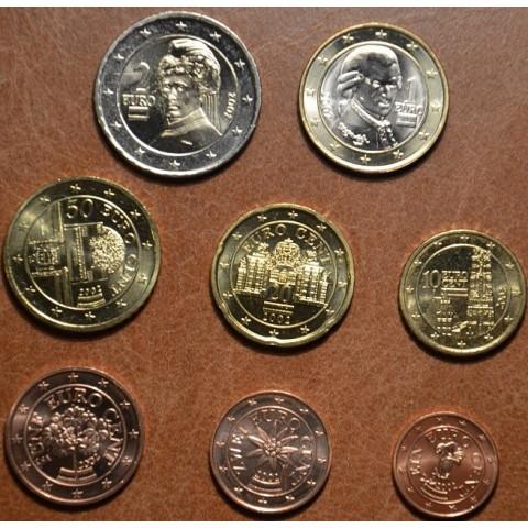 Sada 8 rakúskych mincí 2002 (UNC)
