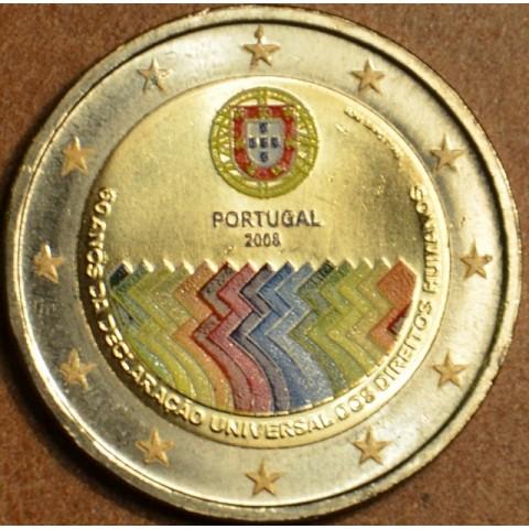 2 Euro Portugalsko 2008 - 60. výročie Všeobecnej deklarácie ľudských práv (farebná UNC)
