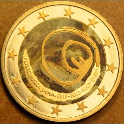 2 Euro Slovinsko 2013 - 800 rokov od objavenia Postojnskej jaskyne II. (farebná UNC)