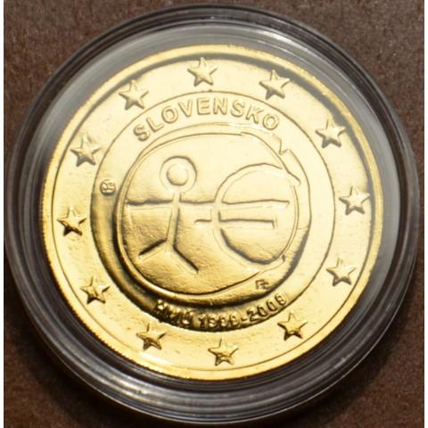 2 Euro Slovensko 2009 - 10. výročie hospodárskej a menovej únie (pozlatená UNC)