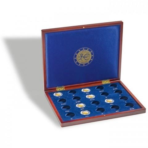 Drevená kazeta Leuchtturm Volterra na spoločné vydanie 2 Euro mincí z roku 2009