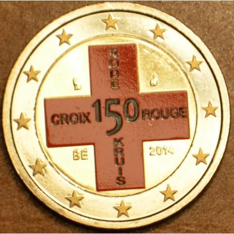 2 Euro Belgicko 2014 - 150. výročie belgického Červeného kríža (farebná UNC)