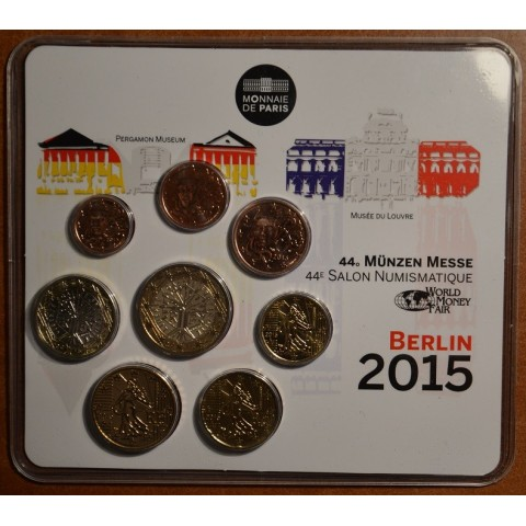 Sada 8 Francúzskych mincí 2015 (BU)