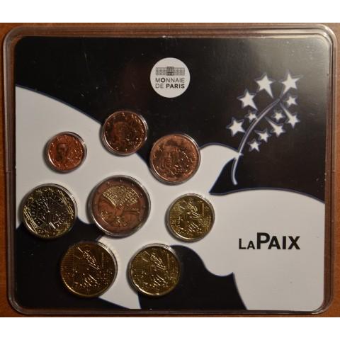 Sada 8 Francúzskych mincí 2015 Mier (BU)