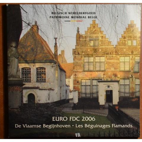 Súbor 8 mincí Belgicko 2006 + medaila (BU)