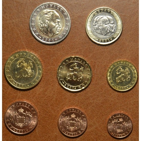 Sada 8 euromincí Monaco 2001 (UNC)