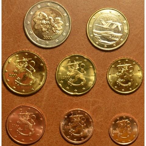 Sada 8 euromincí Fínsko 2000 (UNC)
