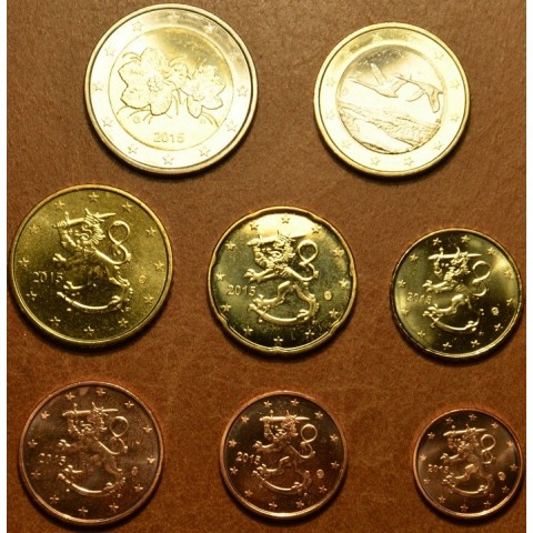 Sada 8 euromincí Fínsko 2015 (UNC)