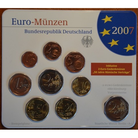 Sada 5x9 euromincí Nemecko 2007 (BU)