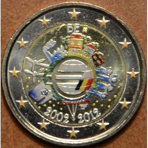 2 Euro Belgicko 2012 - 10. výročia vzniku Eura (farebná UNC)