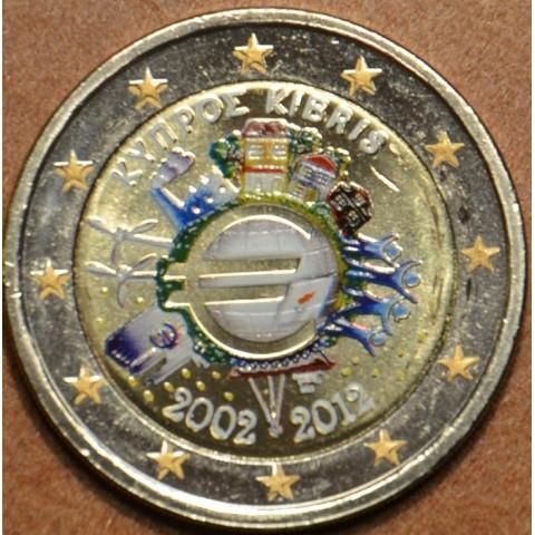 2 Euro Cyprus 2012 - 10. výročia vzniku Eura (farebná UNC)