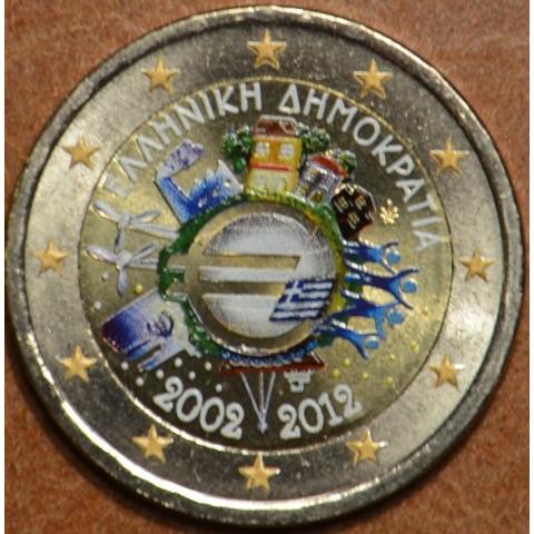 2 Euro Grécko 2012 - 10. výročia vzniku Eura (farebná UNC)