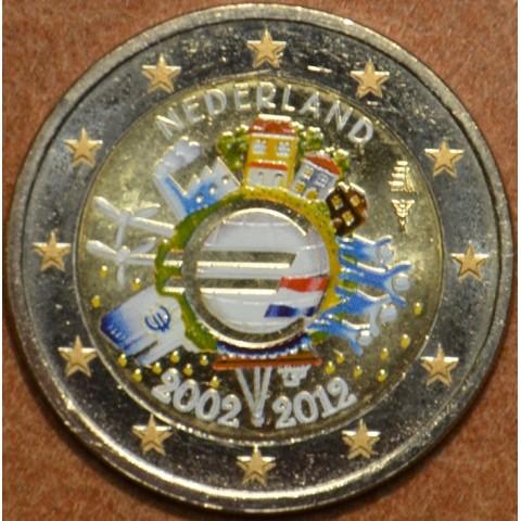 2 Euro Holandsko 2012 - 10. výročia vzniku Eura (farebná UNC)