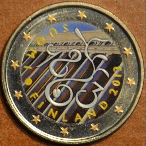 2 Euro Fínsko 2013 - 150. výročie Parlamentu 1863 II.  (farebná UNC)