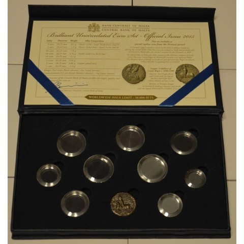 Oficiálna krabica Malta 2015 s kapsulami a certifikátom
