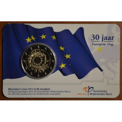 2 Euro Holandsko 2015 - 30 rokov Europskej vlajky  (BU)