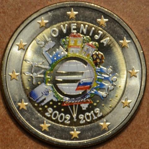 2 Euro Slovinsko 2012 - 10. výročia vzniku Eura (farebná UNC)