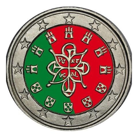 2 Euro Portugalsko (farebná UNC)