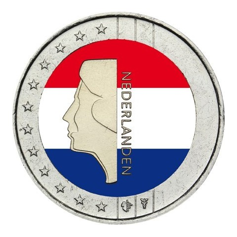 2 Euro Holandsko - Beatrix (farebná UNC)