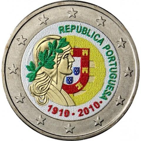 2 Euro Portugalsko 2010 - 100. výročie Portugalskej republiky II. (farebná UNC)