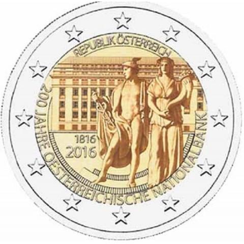 2 Euro Rakúsko 2016 - 200 rokov Rakúskej národnej banky (UNC)