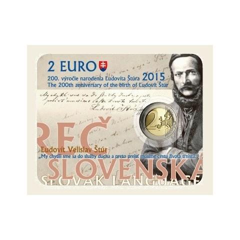 2 Euro Slovensko 2015 - Karta Ľudovít Štúr (UNC)