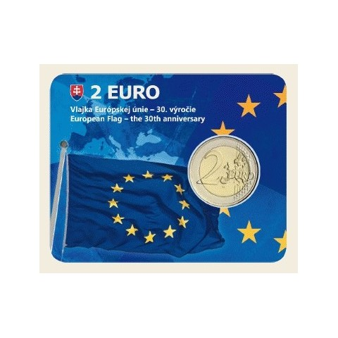 2 Euro Slovensko 2015 - Karta 30 rokov Europskej vlajky  (UNC)