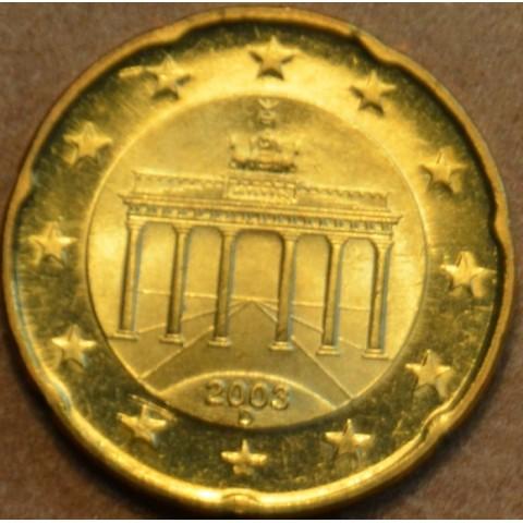 """20 cent Nemecko """"D"""" 2003 (UNC)"""