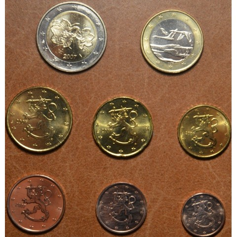 Sada 8 euromincí Fínsko 2007 (UNC)