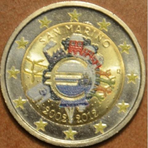 2 Euro San Marino 2012 - 10 rokov Eura (farebná UNC)