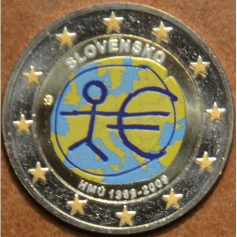 2 Euro Slovensko 2009 - 10. výročie hospodárskej a menovej únie II.  (farebná UNC)