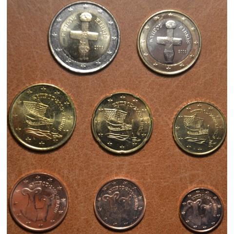 Sada 8 euromincí Cyprus 2009 (UNC)