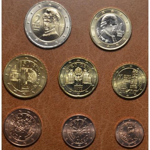 Sada 8 rakúskych mincí 2008 (UNC)