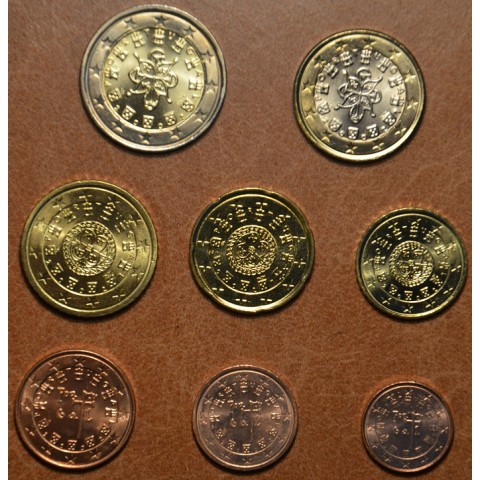Sada 8 portugalských mincí 2002 (UNC)