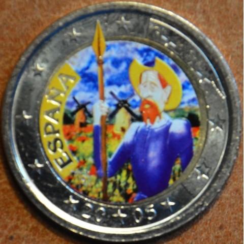 2 Euro Španielsko 2005 - 400 rokov od vydania románu Don Quijote II. (farebná UNC)