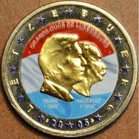 2 Euro Luxembursko 2005 - 50. výročie narodenia veľkovojvodu Henriho II. (farebná UNC)
