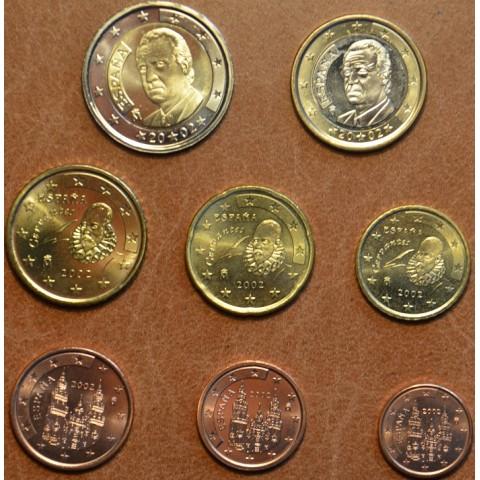 Sada 8 mincí Španielsko 2002 (UNC)
