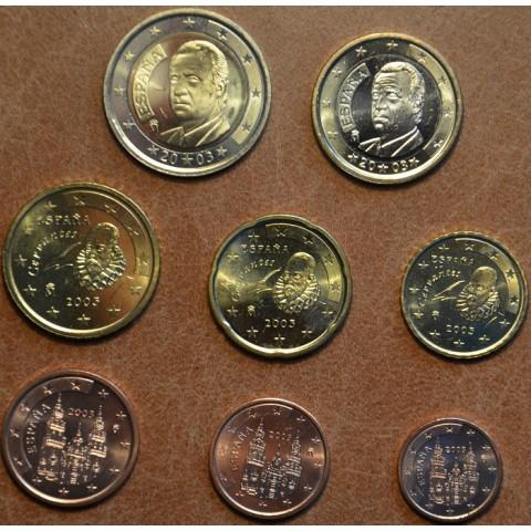Sada 8 mincí Španielsko 2003 (UNC)