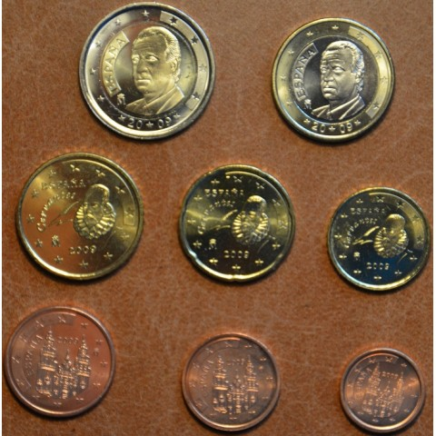 Sada 8 mincí Španielsko 2009 (UNC)