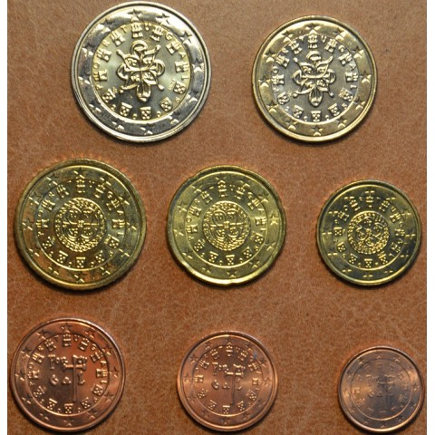 Sada 8 portugalských mincí 2005 (UNC)