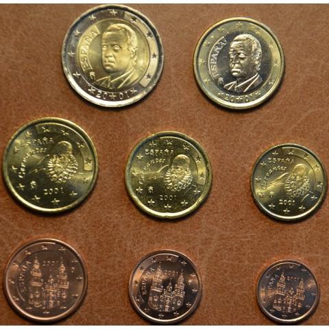 Sada 8 mincí Španielsko 2001 (UNC)