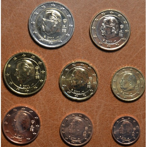 Sada 8 belgických mincí 2011 (UNC)